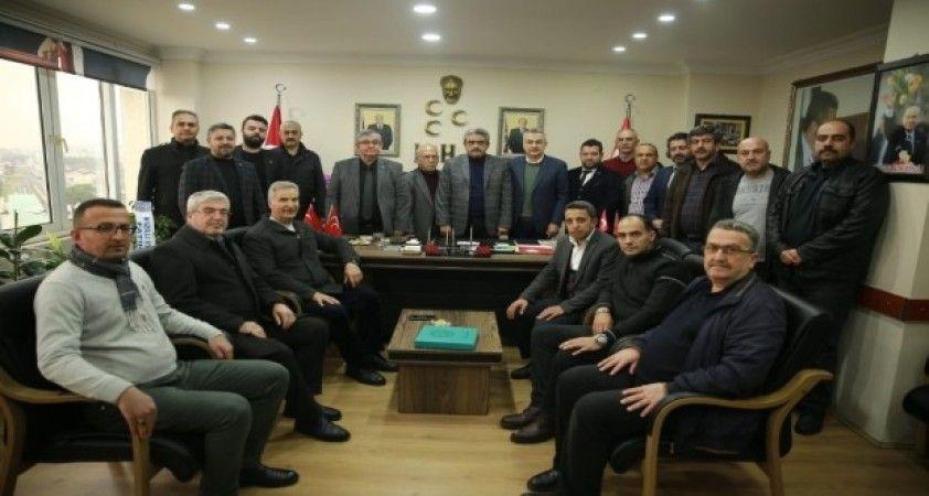 AK Partili Savaş'tan MHP İl Başkanı Alıcık'a ziyaret