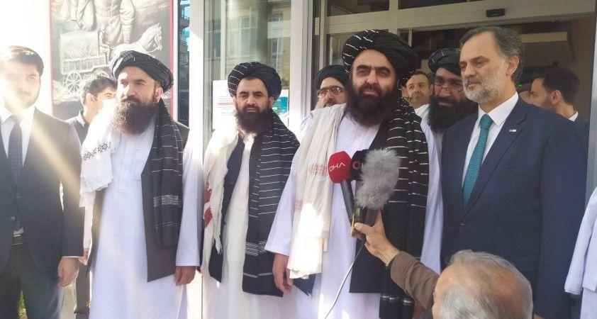 Taliban heyeti Kızılay'ı ziyaret etti