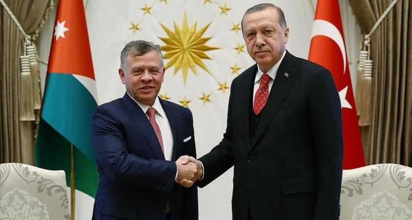 Cumhurbaşkanı Erdoğan ile Ürdün Kralı 2. Abdullah İsrail'in saldırılarını görüştü