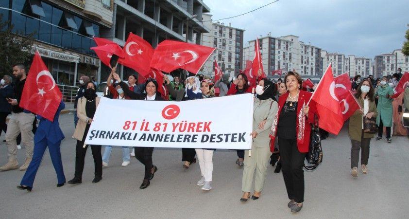 81 ilden Şırnak annelerine destek yürüyüşü