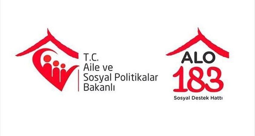 'Alo 183 Sosyal Destek Hattı' aracılığıyla 163 bin 513 kişinin sorunu çözüldü