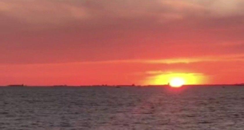 İstanbul'da mest eden günbatımı manzarası