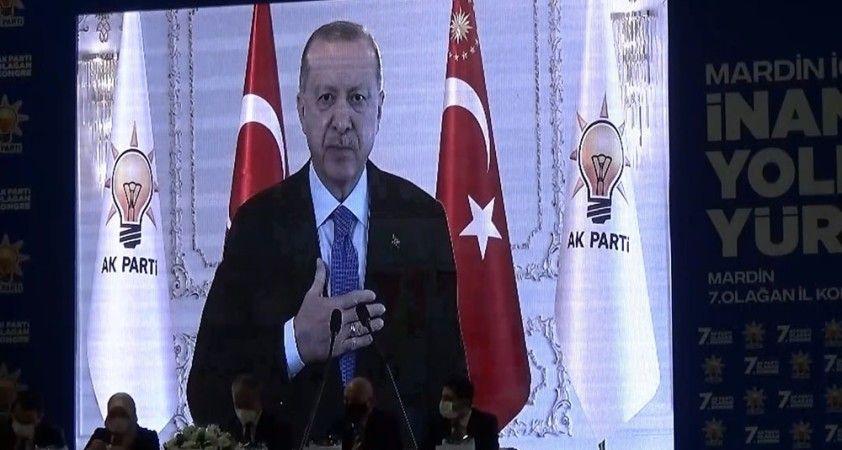 Cumhurbaşkanı Erdoğan, AK Parti Mardin 7. Olağan İl Kongresine bağlandı