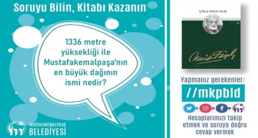 Mustafakemalpaşa'da soruyu bilen kitap kazanıyor
