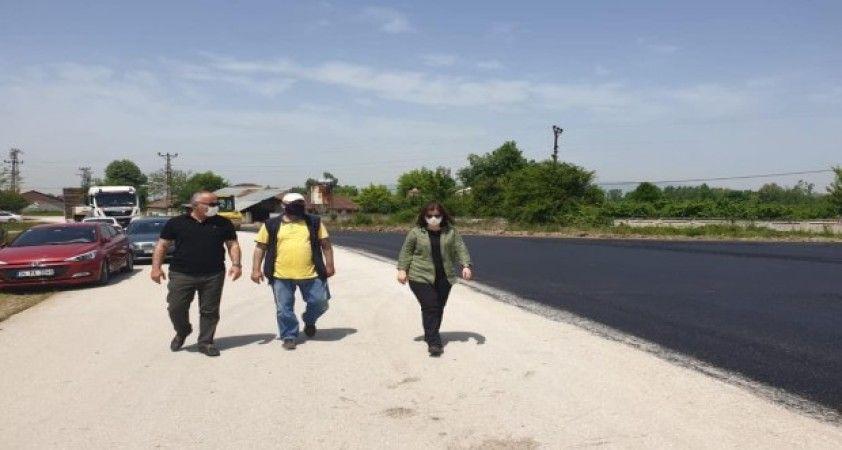 Düzce'de köylerin asfalt sorunu gideriliyor