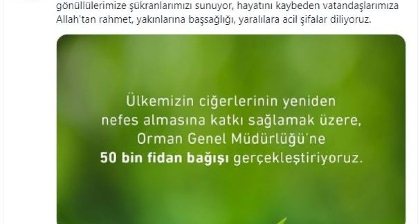 İGA'dan Orman Genel Müdürlüğüne 50 bin fidan bağışı