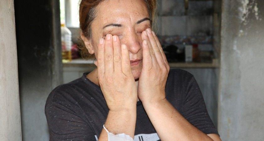 Kızının evi küle dönen ve kedileri ölen annenin gözyaşları