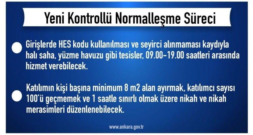 Başkentte normalleşme kuralları belli oldu