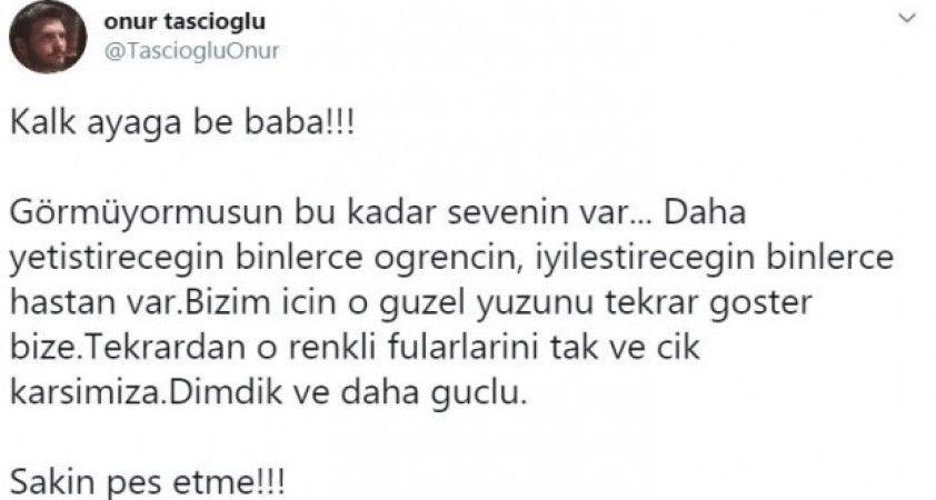 Dahiliye Profesörü Cemil Taşcıoğlu'nun oğlundan duygulandıran paylaşım