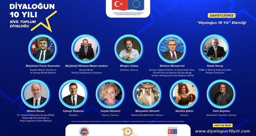 Türkiye ve AB arasındaki 'Sivil Toplum Diyaloğu'nun 10. yılı kutlanıyor