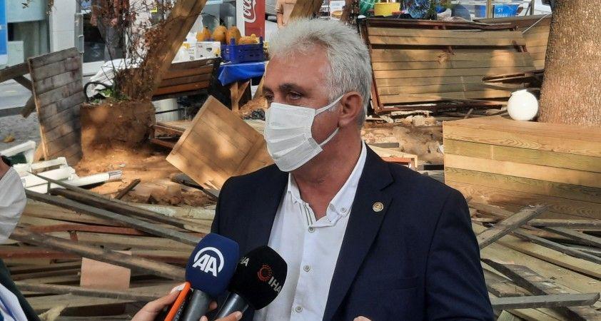 İBB'den şafak vakti İstinye Spor Kulübü tesislerine yıkım: O anlar kamerada