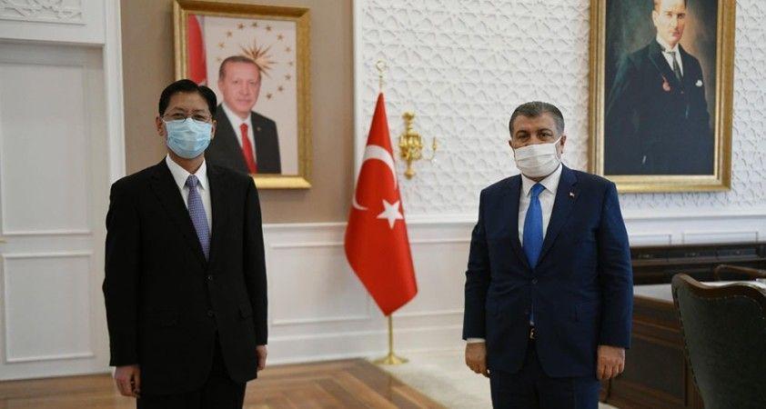 Sağlık Bakanı Koca, Çin'in Ankara Büyükelçisi Liu Shaobin ile görüştü