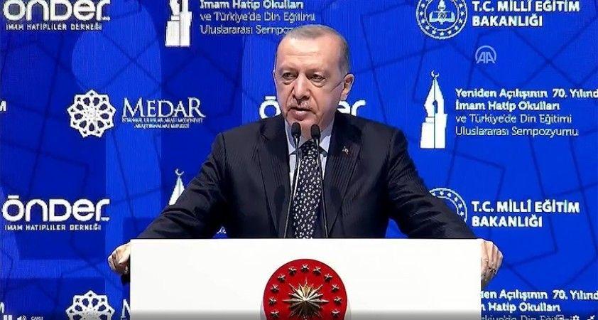Erdoğan: 28 Şubatta kapısına kilit vurulmak istenen imam hatipler bugün en çok tercih edilen eğitim kurumları
